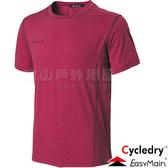 EasyMain衣力美 TE18027-10紅色 男排汗抗UV短T恤  防曬抗UV運動排汗衣