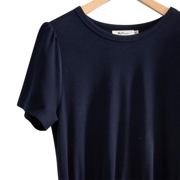 春夏出清3折[H2O]假兩件式活動一片紗裙可兩穿針織洋裝 - 藍/白/灰色 #0684009