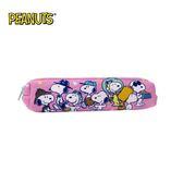 粉色款【日本正版】史努比 長型 防震 筆袋 鉛筆盒 Snoopy PEANUTS - 294982