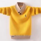 男童毛衣套頭秋冬款加絨加厚中大童洋氣針織衫兒童裝9男孩10-12歲 童趣潮品