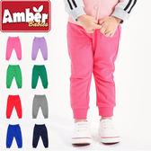 Amber  長褲  褲子  刷毛長褲  休閒長褲  男女童  素面多色