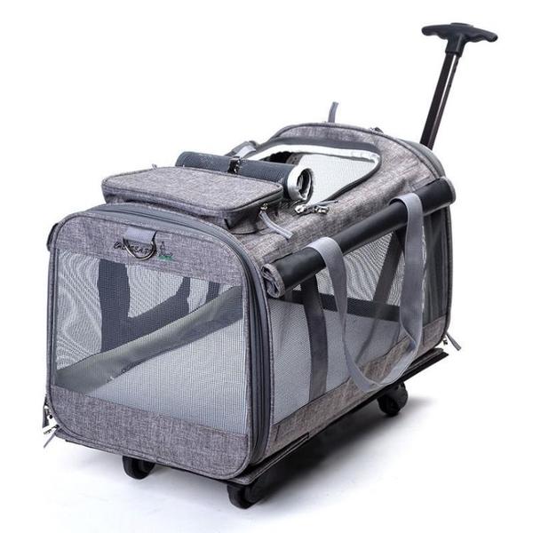 貓包拉桿箱大號兩只貓外出便攜寵物透氣單肩可拆卸折疊包手提包