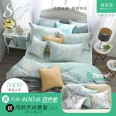 【限時買再送同款靠墊1入】鴻宇 雙人床包薄被套組 天絲400織 仲夏夢 台灣製2206
