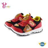 【正版授權】POLI波力 羅伊 中童 運動鞋慢跑鞋LED電燈鞋 台灣製MIT G8125#紅色◆OSOME奧森鞋業