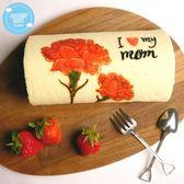 糖果貓烘焙.溫馨康乃馨草莓蛋糕捲(420g/條)﹍愛食網
