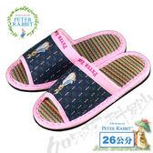 【クロワッサン科羅沙】Peter Rabbit 十字紋室內草蓆拖鞋 (粉色26CM)