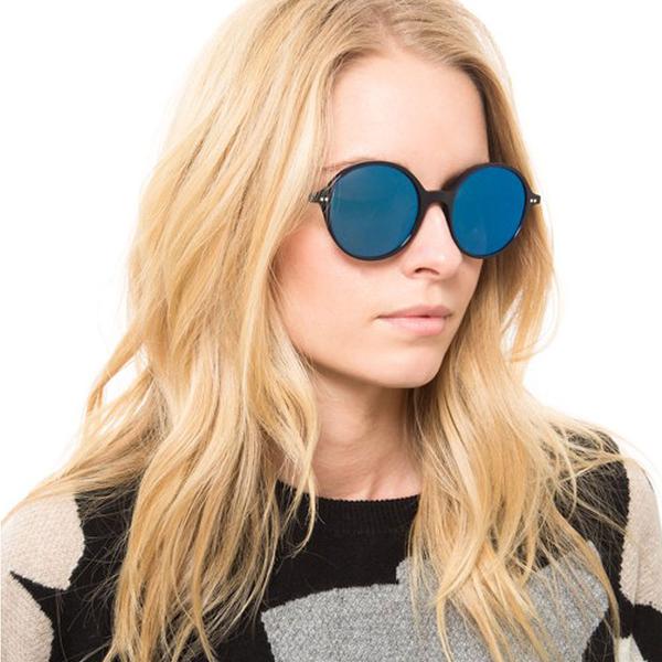OLIVER PEOPLES 太陽眼鏡 CORBY 156696 (藍-藍水銀) 復古圓框款 # 金橘眼鏡