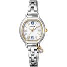 附贈藍色絨面錶帶 CITIZEN 星辰 Wicca 公主系列 聖誕節廣告款女錶套組 KP2-515-13