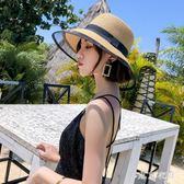 帽子女式夏天防曬遮陽草帽大檐出游太陽帽海邊百搭度假沙灘帽 QQ23431『東京衣社』