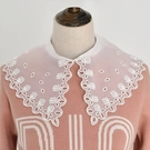 假領子襯衫穿搭假領片 雪紡紗針織衫大學T外套[E1881]滿額送愛康衛生棉預購女裝上衣.朵曼堤洋行