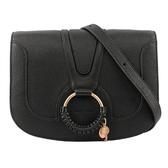 【SEE BY CHLOE】HANA bag 中型皮革斜背包(黑色) CHS17SS897305 001