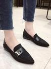低跟鞋 護士小皮鞋中跟單鞋瓢鞋女低跟年新款媽媽豆豆鞋女粗跟