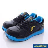 【GOODYEAR】工作鞋- 新一代寬楦鋼頭工作鞋-GAMX63906-黑藍-男款-0