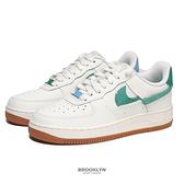 NIKE 休閒鞋 WMNS AIR FORCE1 '07 LXX 米白 藍綠 斷層 解構 膠底 女 (布魯克林) BV0740-100