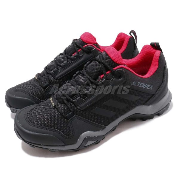 adidas 戶外鞋 Terrex AX3 GTX W 黑 紅 Gore-Tex 登山 防水 運動鞋 女鞋【PUMP306】 BC0572