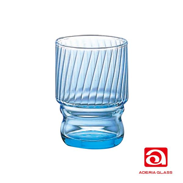 日本ADERIA 強化水杯 235ml-藍