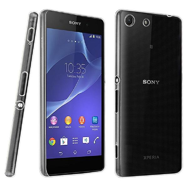 Sony Xperia M5 晶亮透明 TPU 高質感軟式手機殼/保護套 光學紋理設計防指紋