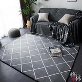 地毯 ins潮牌北歐地毯臥室加厚可愛客廳地墊茶幾飄窗墊