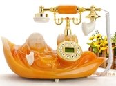 歐式復古電話機座機家用仿古電話機時尚創意玉佛電話復古無線電話 陽光好物