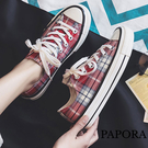 PAPORA復古休閒女帆布布鞋板鞋(偏小一碼)K2295