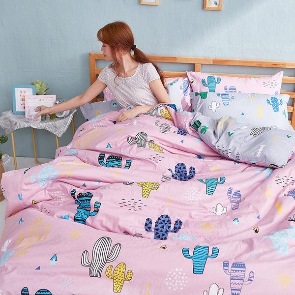 床包 / 單人【OH!仙人掌-兩色可選】含一件枕套  100%精梳棉  戀家小舖台灣製AAS101