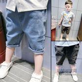 ?老闆定錯價? 男童牛仔褲七分褲韓版兒童褲子寶寶中褲1356歲潮