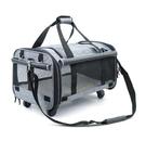 寵物拉桿箱外出大號便攜包大容量兩只貓咪外帶貓背包狗包行李貓包「時尚彩紅屋」