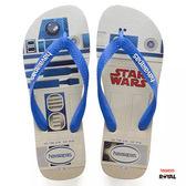 Havaianas 哈瓦士 新竹皇家 星際大戰 R2-D2 白藍 夾腳鞋 男款 NO.H2205