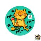 【收藏天地】台灣紀念品*神奇的陶瓷吸水杯墊- 貓咪系列∕馬克杯 送禮 文創 風景 觀光  禮品