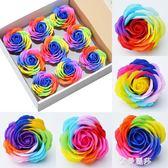 情人節巨型七彩玫瑰香皂花大花頭彩虹玫瑰禮盒花束包花材料花店HM 金曼麗莎