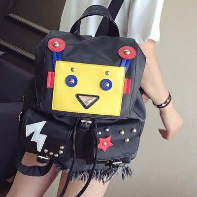 新款惡搞機器人後背包潮流雙肩包女包....流行線