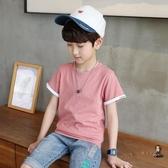 兒童短袖 男童短袖t恤夏裝2020新款兒童半袖T恤中大童韓版棉洋氣夏裝t恤 4色