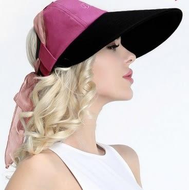 太陽帽女夏天戶外韓版遮陽帽防曬沙灘帽大沿可折疊防紫外線涼帽子 -uai0018