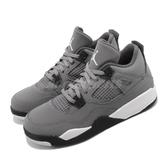 Nike Jordan 4 Retro Cool Grey 灰 白 童鞋 中童鞋 籃球鞋 喬丹 【PUMP306】 BQ7669-007
