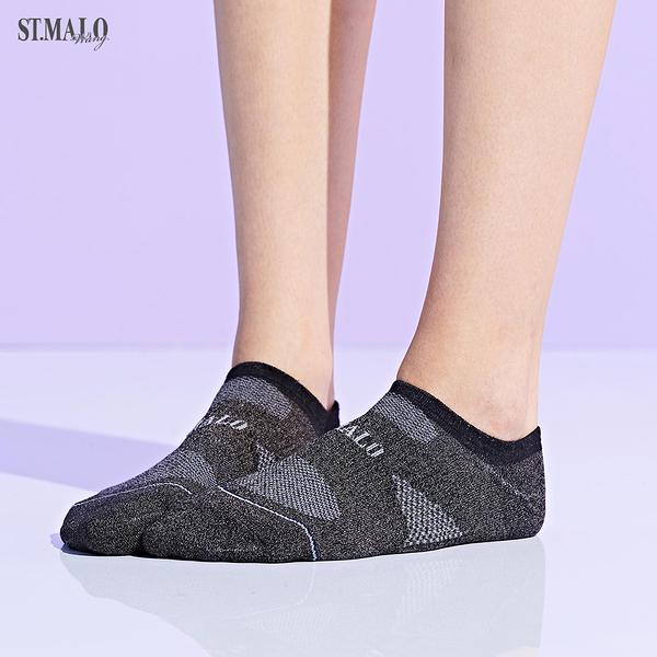 【ST.MALO】X-Static銀纖維99.9%除臭女性船型襪-1976WS-迷霧黑