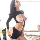 女性感情趣內衣服騷開襠式緊身透視三點式制服職業裝用品激情套裝 金曼麗莎