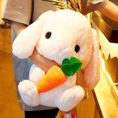 兔子毛絨玩具布娃娃公仔少女心可愛禮物睡覺抱枕女孩小玩偶垂耳兔 情人節禮物 萬聖節服飾九折