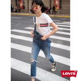 吊帶褲 牛仔 / 膝蓋刷破 / 彈性布料 - Levis