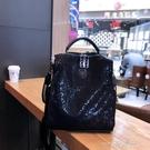 新款時尚潮流網布後背包女休閒百搭多用旅行背包軟單肩手提包  一米陽光