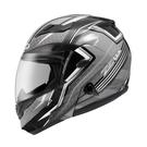 【東門城】ZEUS ZS3500 YY7 透明纖維(銀) 可掀式安全帽 雙鏡片
