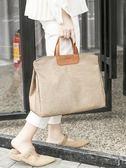 韓版公文包單肩斜挎書袋文件袋氣質時尚A4資料袋手提女文件包  莉卡嚴選