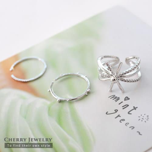 放射狀金屬造型戒指 【櫻桃飾品】【10339】