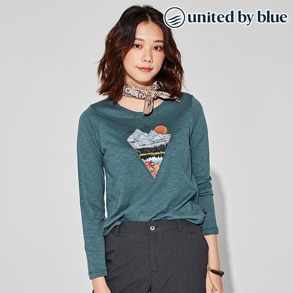 United by Blue 女休閒圓領長袖上衣 201-105 Woodland Lake / 城市綠洲 (有機棉、環保、長袖T、美國品牌)