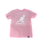 KANGOL 童裝 短袖 粉紅色 袋鼠大LOGO 6126500141 noG35