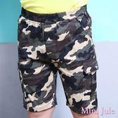 Mini Jule 男童 短褲 迷彩雙口袋/側邊大口袋鬆緊短褲(共2款)