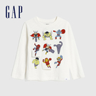 Gap男幼童 Gap x Marvel 漫威系列圓領長袖T恤 618287-白色