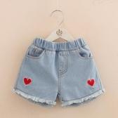 寶寶刺繡牛仔短褲 2020夏裝韓版新款女童童裝兒童熱褲子