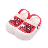 HELLO KITTY 相機造型電燈園丁鞋 白 819270 中童鞋 鞋全家福