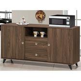 櫥櫃 餐櫃 FB-342-1 奈爾胡桃色4尺碗櫃下座【大眾家居舘】