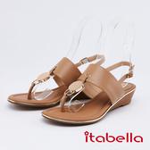 itabella.女神風采-時尚夾腳涼鞋(0317-30棕色)
